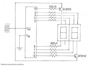 2-digit 7-segment display circuit