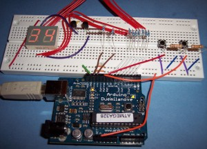2 Digit 7 Segment Display with Buttons