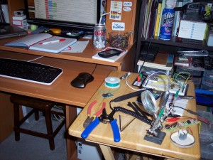 Makeshift workbench