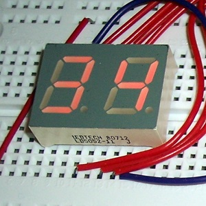 2 Digit 7 Segment Display with Buttons using Arduino